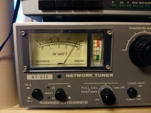 14MHz/15w入力で170w出力を確認 波形も問題なし!
