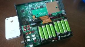 本体基板がDSPユニット バッテリー左がLPF