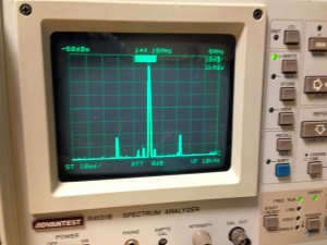 IC-202Aのスプリアス測定