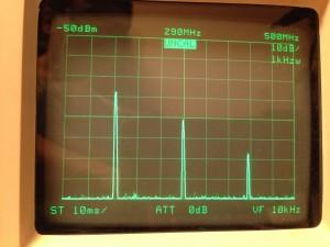 第二次、第三次高調波の測定