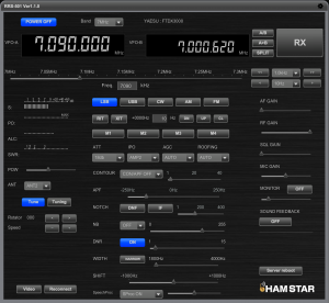 FTDX3000の最新インターフェース 写真は開発中のプロトタイプ
