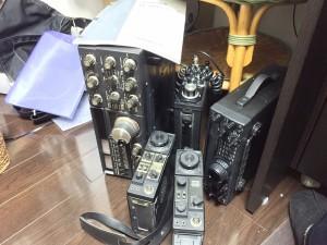 作業待ちの無線機