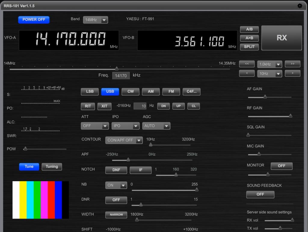 C4FMを搭載したrev.1.1.5の画面