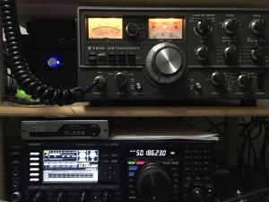 こちらは当局所有のTS-520X(100w改造機)