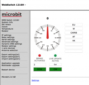 Microbit Web Switchの画面