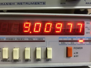 CW(RX) 規定値9.0098MHz ±150Hz以内