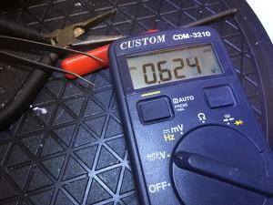 0.6Vは電池切れに等しい
