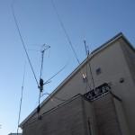 3.5MHz釣り竿ホイップを拙宅に固定設置