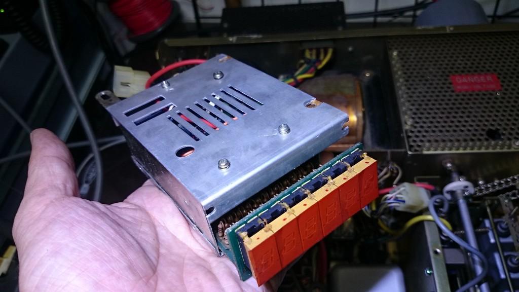 IC不良と判定 交換が必要な周波数カウンターユニット