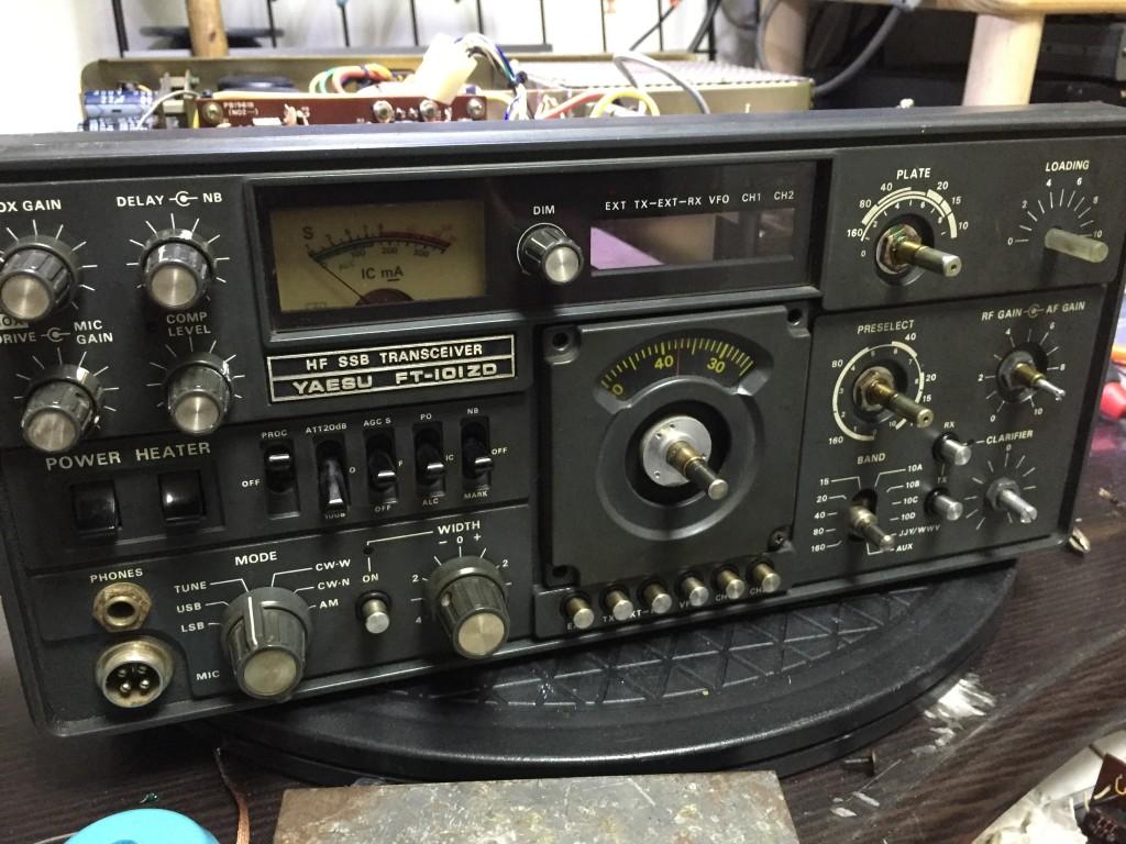 フロントP着脱作業中のFT-101ZD