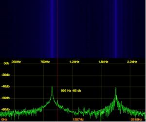 FTDX3000 ベアフット100w時の IMD特性