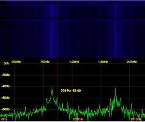 リニアを接続した状態 約200w時(ドライブ10w)
