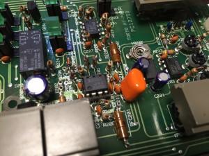 NJM2072はソケット化 赤いフィルムコンは交換部品