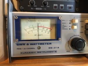 50MHz 4w入力時に50w出力を確認中 正常動作のように思えるが?