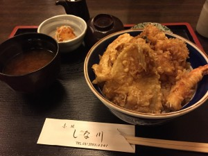 赤坂しな川 ランチの天丼 1,000円なり