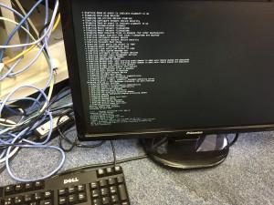 RRS-Pi 起動中のコンソール