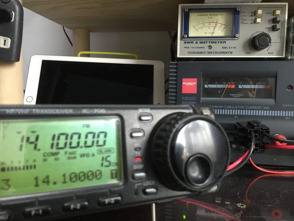 14.1000MHzで100Wに調整