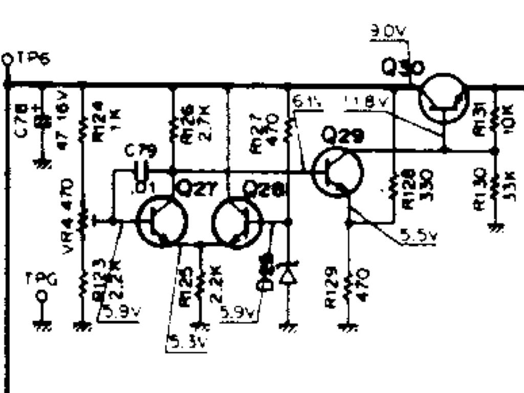 Q30(2SA473)、27〜29 (2SC945)を交換