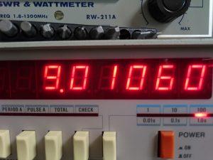 CW(TX時)規定値 調整前は9.112付近だった