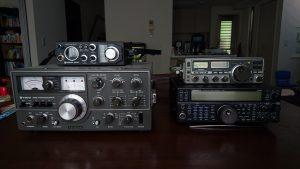 TS-520X(改)、TS-590S、RJX-601、IC-505