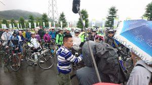 11/3 オンエア予定の番組収録 自転車なのに「鶴見」じゃない新吾(柳澤)さんです。