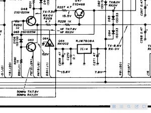 反対側のメイン基板に8Vの源が・・