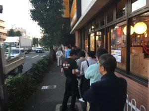 開店前から大行列